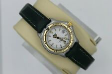 Tag Heuer SEL WI1350 Watch Womens Professional White 18K Gold Green Leather