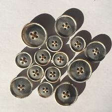 189 Designer Knöpfe Polyester matt grau meliert, drei Größen von Union Knopf