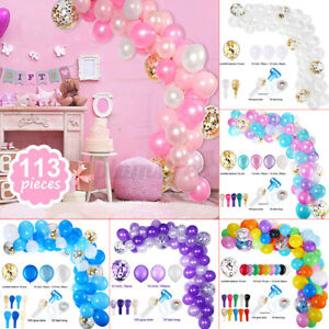 113Pcs Party Balloons Garland Arch Birthday Wedding Baby Shower Party Deco