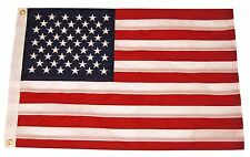 "12x18 Yacht Boat Ensign Nautical US USA American Flag Fully Sewn 2ply 12""x18"""