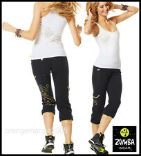 ZUMBA 2Pc.SET! Galatic CAPRI & El FAb  Racerback Tank Top-Gold Foil - EliteZWear