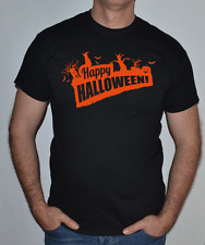 Happy Halloween, naranja y negro, divertido, camiseta