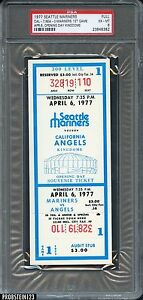 1977 Seattle Mariners 1st Game Opening Day Kingdome Full Ticket PSA 6 EX-MT