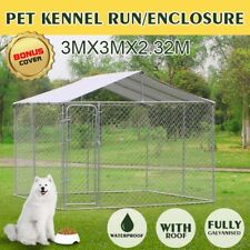 New Pet Dog Kennel Enclosure Play Pen Puppy Run Exercise Fence Cage Playpen