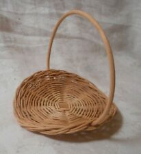 Miniature Woven Gathering Basket wicker Craft  Doll House 5