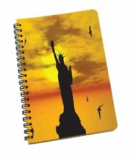 Statue Of Liberty Printed Notebook Wire Bound Ruled Paper Sheets Office