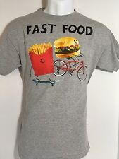 ~ Men's Small T Shirt [FAST FOOD] Funny Humor Gift Street Wear College Clothing