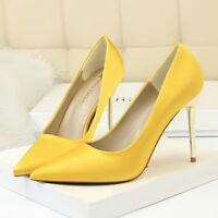 Women Pumps Plus Size Stiletto Slip on Pointed Toe High Heel Party Ladies Shoes