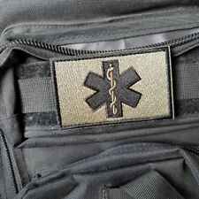 EMT Medic Paramedic Tactical Military Army Morale Hook Patch Badge Forest Dark