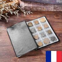 Album Poche Livre de Collection 120 Pièces de Monnaie Numismate Rangement
