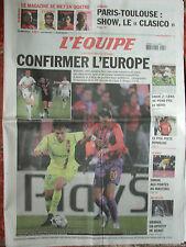 L'Equipe du 25/10/2008 - Foot : Lyon et Bordeaux - Lens - Rugby : Paris-Toulouse