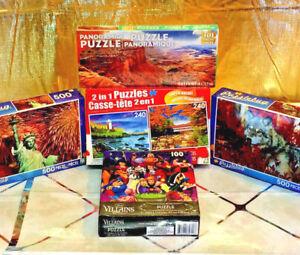 5x Jigsaw Puzzle Lot Disney Puzzlebug Landscapes Landmarks Animal 100p/200p/500p