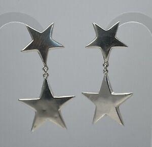 STERLING SILVER 925 Star Earrings
