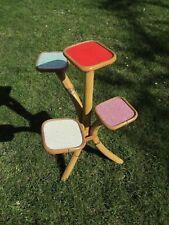 German Danish design 1950 bamboo table stand Bauhaus art deco mid century