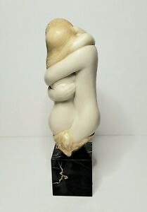 Alva Museum Replica Nude Lovers Sculpture Marble Base Signed Peggy Mach 1971