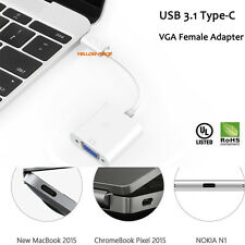 [Ethernet  4K UHD] [Thunderbolt 3 Port Compatible] USB 3.1 Type C to VGA Adapter