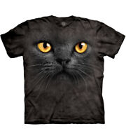 The Mountain Big Face Black Cat Adult Unisex T-Shirt