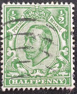 DUZIK: GB KGV SG344 1/2d. green used stamp (No2122)**