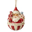 Jim Shore 6006628 Nordic Noel Round Santa Ornaments 2020 NEW Christmas