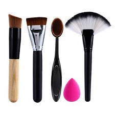 5Pcs Maquillage Pinceaux Éponge Houppette Ovale Brosse à Dents De Fond Teint Kit