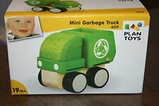 Plan Toys Wooden Mini Garbage Truck #6319 Construction Toy