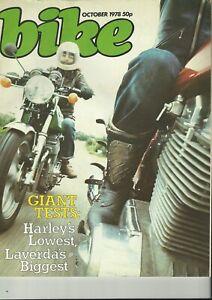 Bike Magazine - October 1978 - Laverda Mirage, Harley XLH Sportster