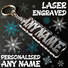 BEST Personalised Named Keyring  ANY NAME Laser cut and engraved GIFT MOTHER