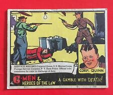 G Men & Heroes Of The Law Vintage 1936 Trading Card Gamble With Death No 4