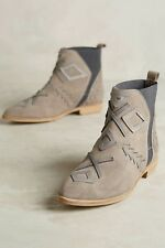 Anthropologie Sabah Suede Bootie Boot by Howsty Size 11/41 Greyish Taupe $270