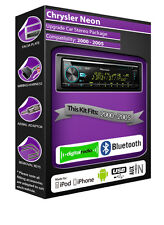 Chrysler Neon DAB radio, Pioneer stereo CD USB AUX player, Bluetooth handsfree
