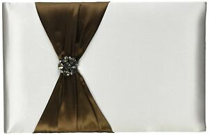 """Lillian Rose Wedding Bride Jeweled Brown 10"""" Guest Book GB800BR"""