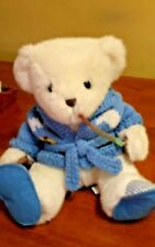 """VERY RARE HOUSE OF LLOYD ALL STUFFED UP WHITE BEAR WITH SWEATER SLIPPERS 10"""""""