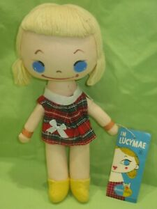 "Dakin RARE Vintage 1960s JAPAN Big Eye 9 1/2"" Plush Dream DOLL #528 LUCYMAE &Tag"