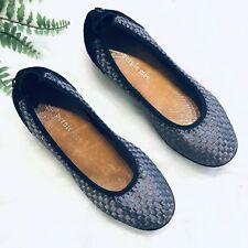 Bernie Mev EUR 39 US 9 Shoes Silver Elastic Black Suede Comfort Walking Woven