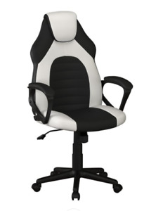 Lifestyle Solution Omaha Gaming Office Chair with Faux Leather, White