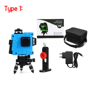 12 Lines Green Laser Level 3D Self-Leveling 360° Horizontal & Vertical  .☆a ☆ao