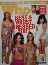 Australian Who Weekly Poster From 2001: Kylie Minogue, Elle Macpherson, Bjork