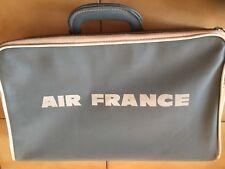 VINTAGE OLD AIR FRANCE AIRLINES BAG LUGGAGE PURSE PORTFOLIO BRIEFCASE ATTACHE