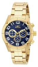 Invicta Specialty 15371 Men's Round Blue Chronograph Analog Gold Tone Watch