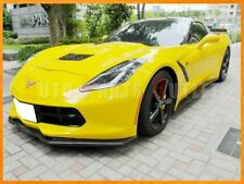 Carbon ST2 Front Lip w/ Z06 Side Skirt Lip For 14-17 Corvette C7 Stingray Z51