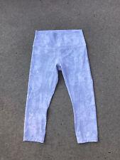 "LULULEMON Active Crop 21"" Women's Leggings Light Grey/White Size 8 NEW"