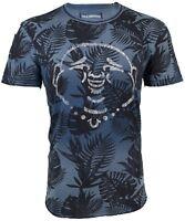 TRUE RELIGION Mens T-Shirt BUDDHA CURVED HEM Indigo $89 Jeans NWT