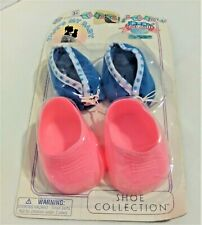 "Vintage Totsy That's My Baby Shoe Collection 2 Pairs Blue & Pink 15""-17"" Dolls"