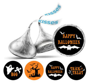 Darling Souvenir Happy Halloween  Stickers Hershey's Kisses Candy Labels-DS-KS76