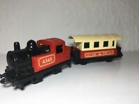 Matchbox Railway Superfast Zug Train Lok / Eisenbahn Nr.43 & 44 Waggon Anhänger