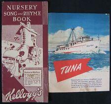 Vintage 1930's-40's Kellogg's Nursery Rhyme & Star-Kist Tuna Booklets