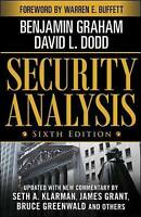 NEW Security Analysis By Benjamin Graham Book with Other Items Free Shipping