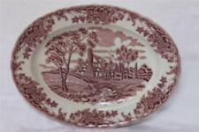 Churchill Brook Pink Oval Serving Platter - Made in Colombia
