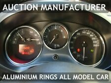 Seat Leon II 2005-2012 Polished Aluminium Gauge Rings Chrome Trim Surrounds x3