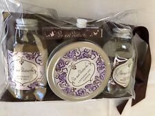 *do not disturb travel spa kit LAVENDER Shower Gel Relaxation oil Candle Matches